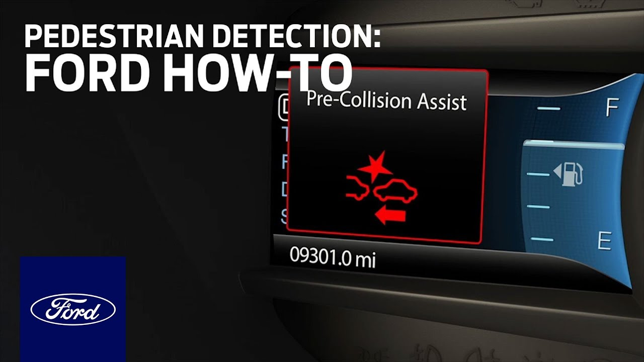 Pre Collision Assist With Pedestrian Detection Ford How