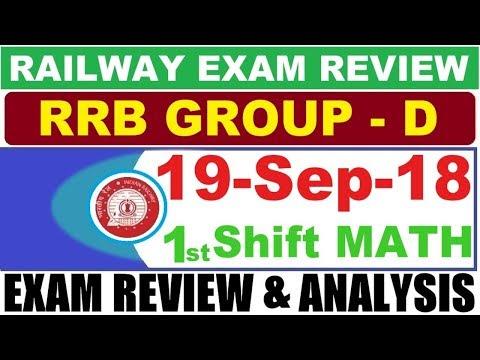 19 September 1st shift Math | RRB Group D 19 Sept 2018 1 Shift Math Exam Analysis & Asked Questions