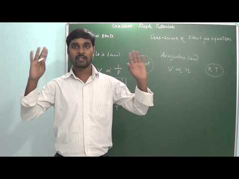 1.1 Gas Laws & Ideal gas equation ( Gaseous state)