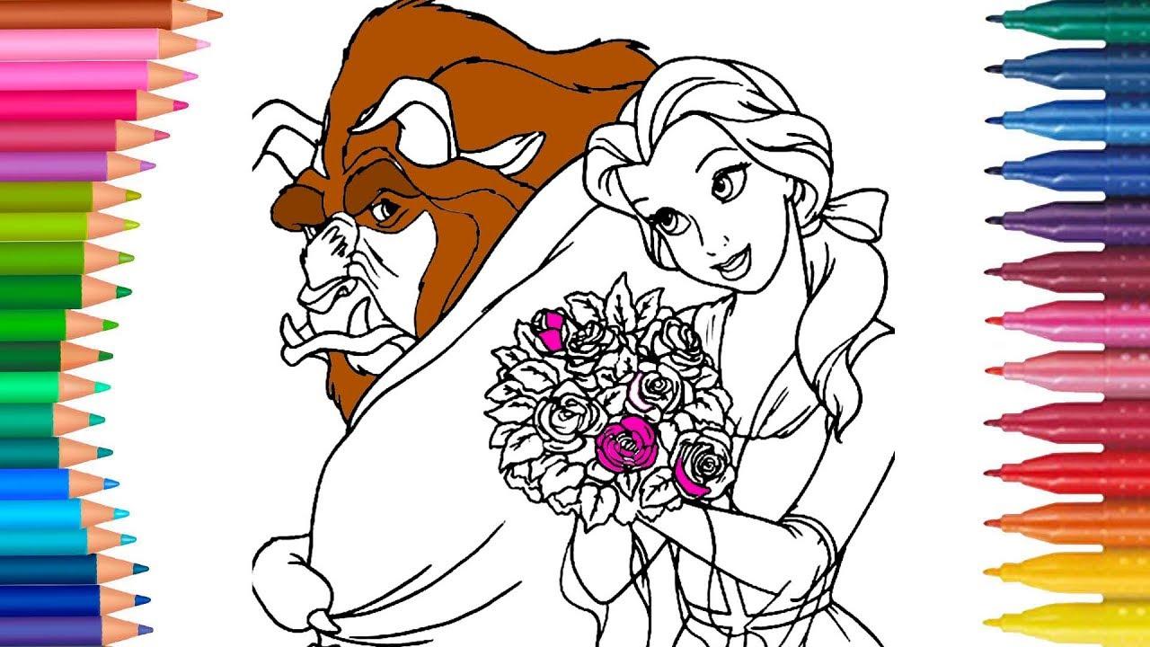 La Bella y la Bestia juego de pintar con Que Ilueva cancion   Manos ...