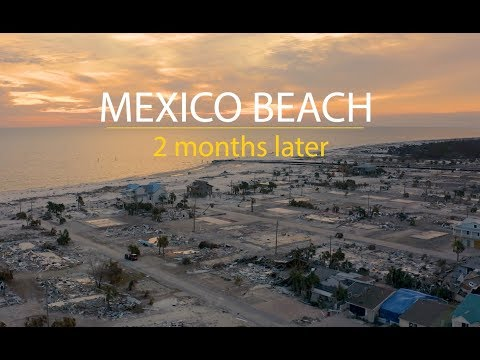 Hurricane Michael - aerial aftermath in Mexico Beach (2 months later) - ShaneOgoeS