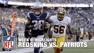 Redskins vs. Patriots | Week 9 Highlights | NFL