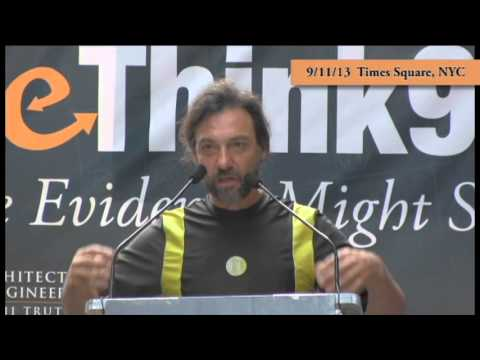 Lenny Charles of INN World Report speaks at Rethink911 Times Square Event 9-11-13