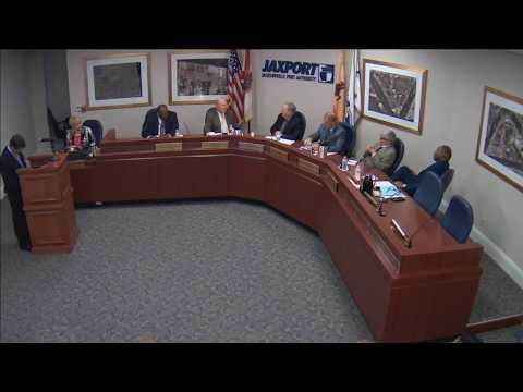 March 5, 2018 JAXPORT Board of Directors meeting