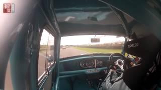 Goliath beats David - Mini Cooper S vs Ford Galaxie 500 racing and crash
