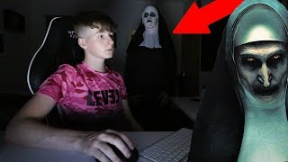 """THE NUN"" CREEPY SCARE PRANK ON KID!"