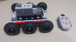 Lego Technic RC 6x6 Truck Chassis PF Building Instruction (DIY)