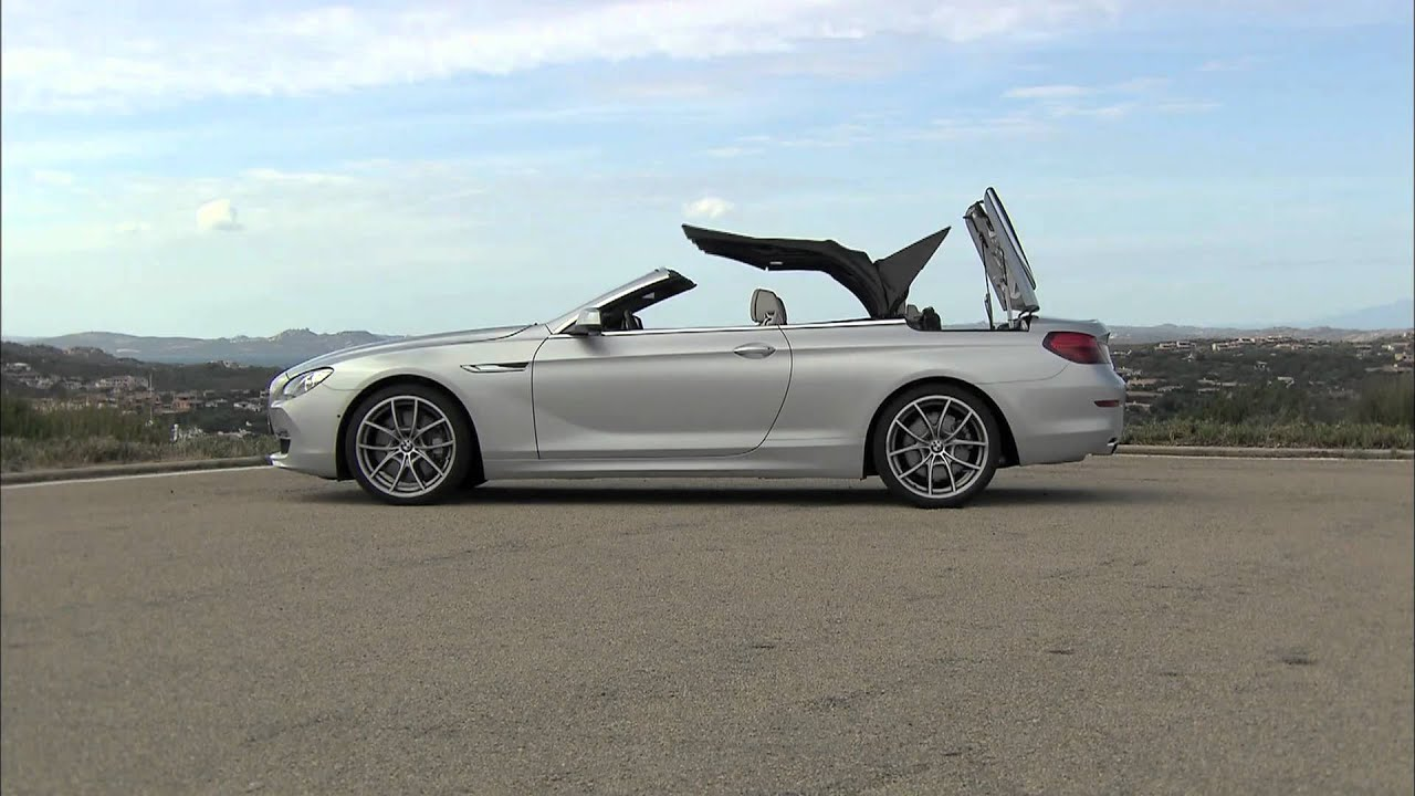 2012 BMW 6 Series Convertible Soft Top in Action - YouTube