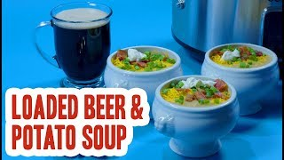 Slow Cooker Loaded Beer & Potato Soup