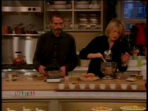 Jeremy Irons Bakes Cookies with Martha (Part I)