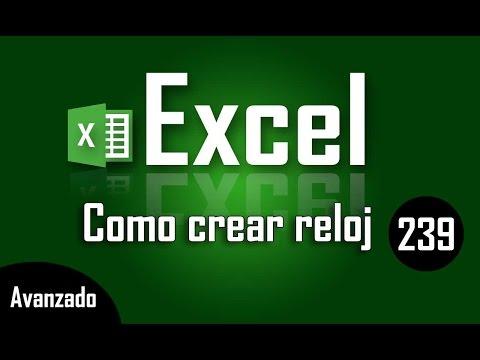 Como crear un reloj en Excel - Capítulo 239