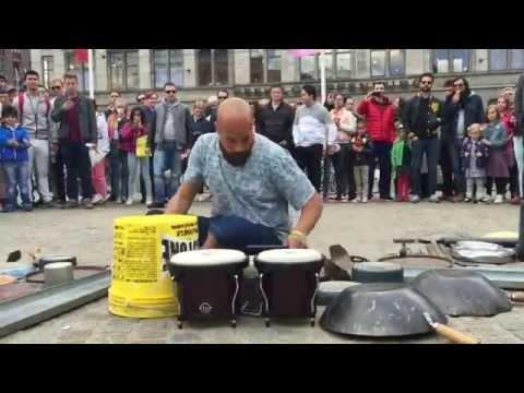Incredible drummer in Amsterdam © #trash rave techno Dario Rossi Drummer