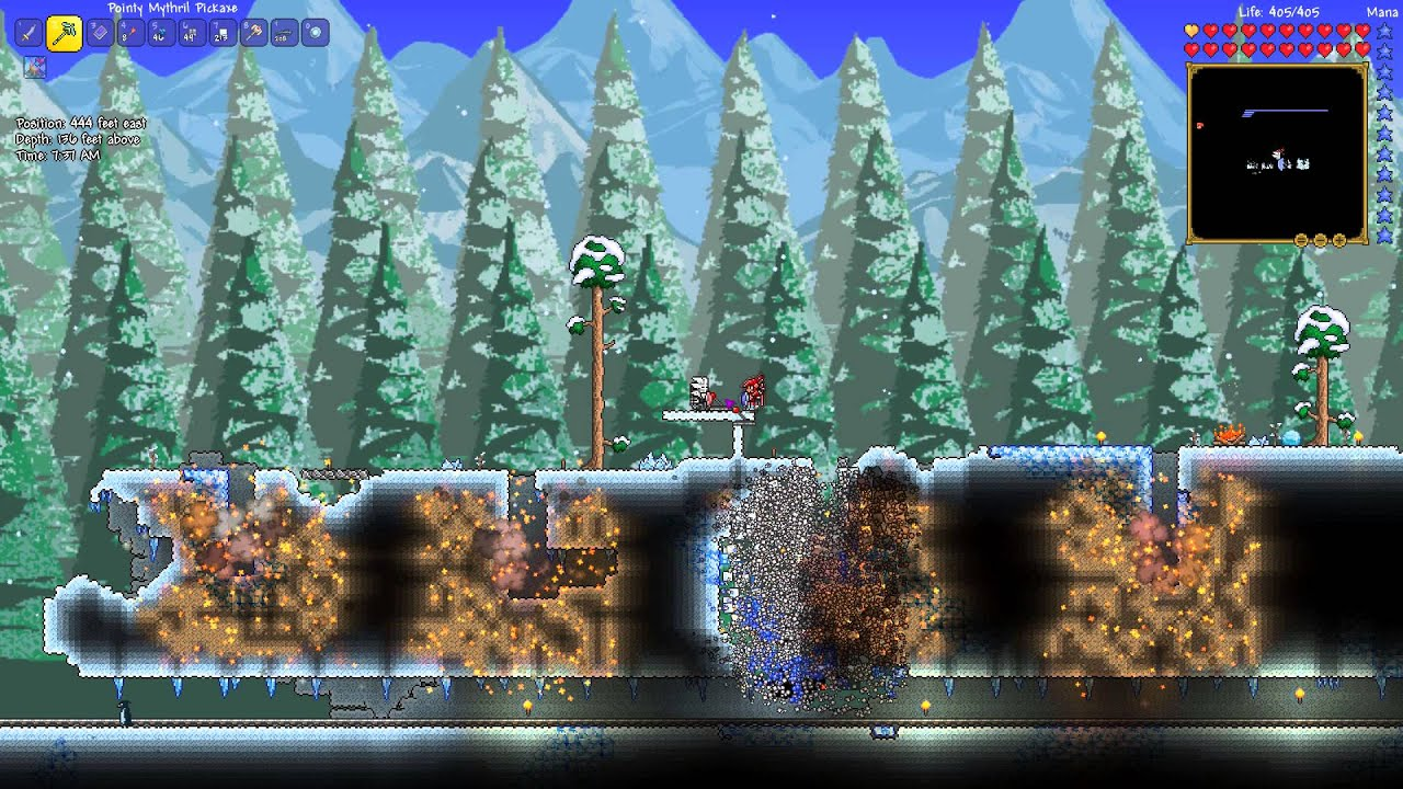 how to make explosives in terraria