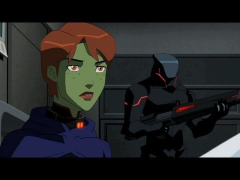 Young Justice Clip - Miss Martian and Aqualad's Surprise