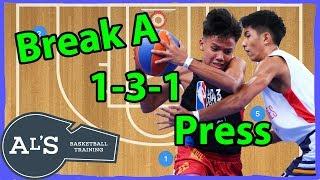Break a 1-3-1 Half Court Press Basketball Defense   Basketball Press Break
