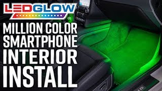 LEDGlow | How to Install A Million Color Bluetooth Interior LED Lighting Kit