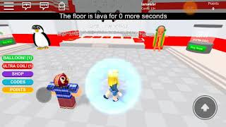 The floor is lava in ROBLOX? (ROBLOX)