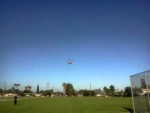 A medivac chopper coming in for a landing
