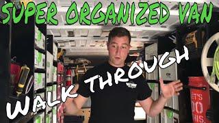 Super Organized Work Van - Van Tour