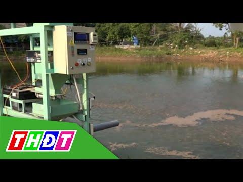 Máy cho cá ăn tự hành - Sáng chế hữu ích cho người chăn nuôi   Khoa học Công nghệ   THDT