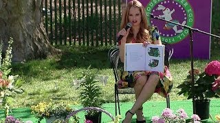 2014 White House Easter Egg Roll: Debby Ryan Reads Curious George
