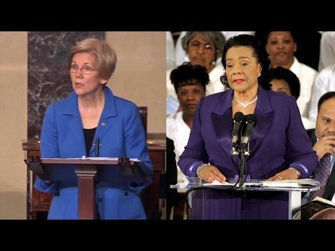 """""""Made Me Feel We Were Back in 1950s"""" Coretta Scott King Memoirist on Silencing of Elizabeth Warren"""