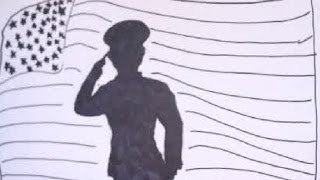 How to draw a American soldier|Flag