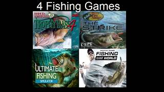 review of 4 bass fishing video games