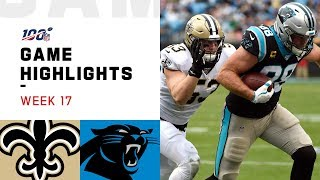 Saints vs. Panthers Week 17 Highlights | NFL 2019