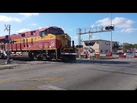LONG Train Knocks Down Signal