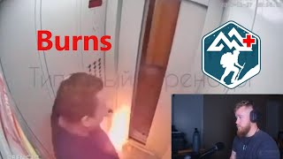 Russian Elevator Fire: Treating Burns