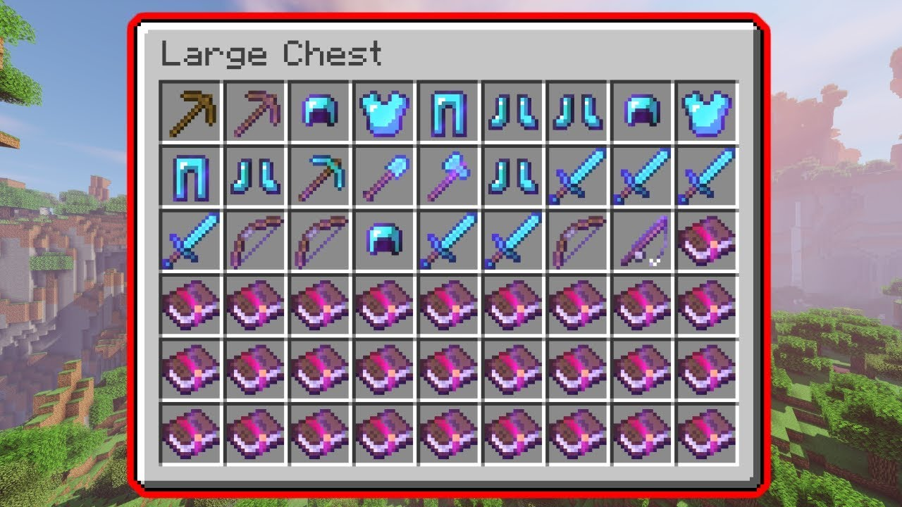 ALL MAX LEVEL (32767) Enchantments in Minecraft