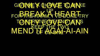 GENE PITNEY, ONLY LOVE CAN BREAK A HEART, KARAOKE