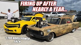Two 1,700hp PRO Australian Burnout Cars Lost In America... and They're Staying With Us!!!