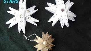 Christmas Ornaments, Paper Towel Roll Stars, Gift Toppers, Paper Crafts