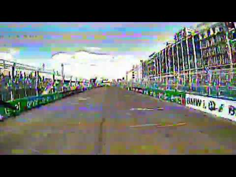 Titan Racing Drone (FPV) vs. Formula E Car NYC with crash
