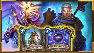 Hearthstone: Big Dragons Spells Luna's Pocket Galaxy New Combo With Skydiving   Descent of Dragons