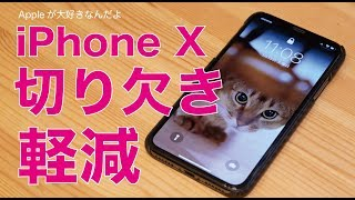 私は嫌いではないですけども気になる方もいらっしゃる iPhones Xの切り...