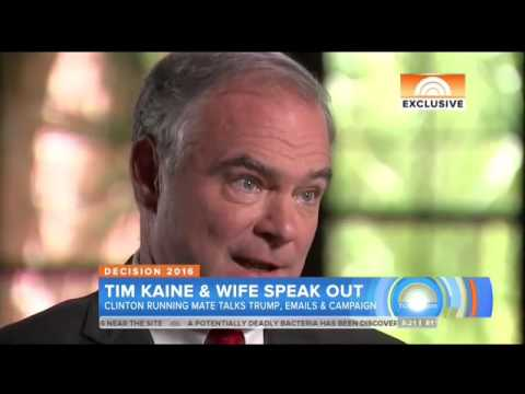 Tim Kaine Can't Say If People Should Trust Hillary Clinton