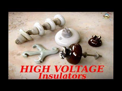 High Voltage Power Line Insulators (Up Close)