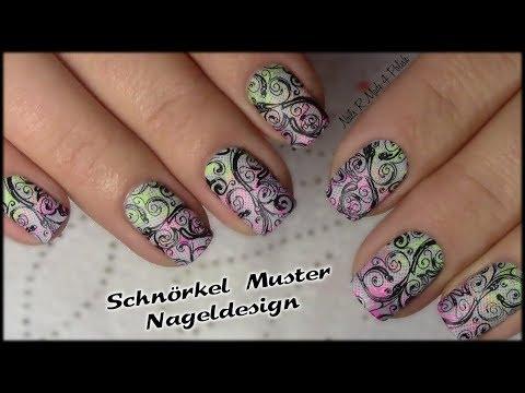 Schnorkel Muster Stamping Nageldesign Nagel Lackieren Flourish