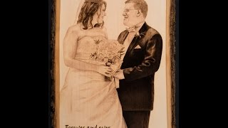 Wedding Portrait - Handcrafted Woodburning (140x Speed)