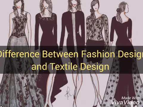 Difference Between Fashion Design And Textile Design Designing Career Youtube