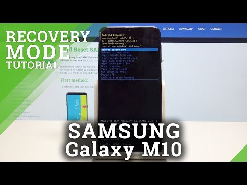 Recovery Mode SAMSUNG Galaxy M10 - Enter & Exit Recovery Menu