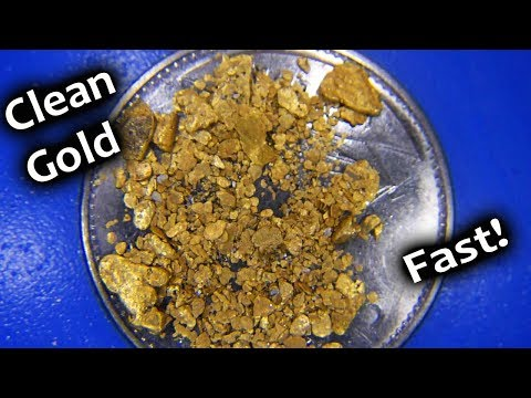 Gold panning technique to clean cons quickly and easily.
