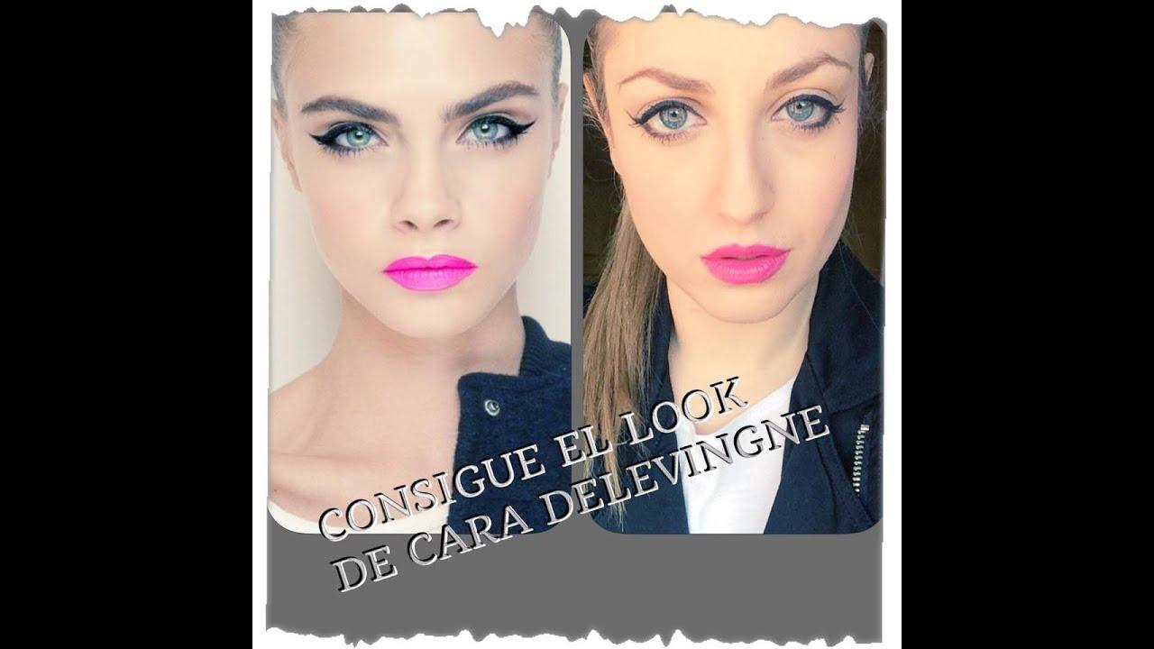 consigue el look de cara delevingne tutorial de maquillaje paso a paso