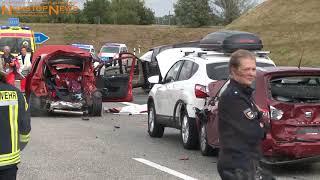 11.08.2018: Zwei Tote und neun Verletzte bei Horror-Unfall auf A20 bei Kröpelin