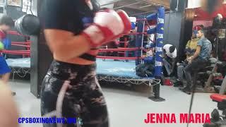 wow **Jenna Maria @The ** Meet and Greet  Vasyl  Lomachenko & jose Pedraza*Does her Workout*