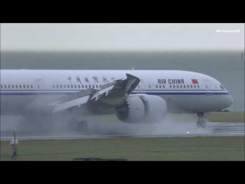 Air China Boeing 787-9 Landing Auckland Airport