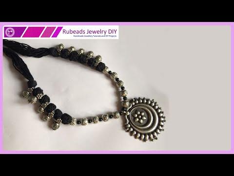 Oxidised Kolhapuri Beads Necklace Making DIY   Handmade  Junk Jewellery Making